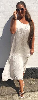 Silke kjole - beige