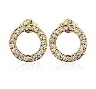 Cirkel øreringe - guld