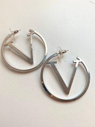 Divaz øreringe - sølv