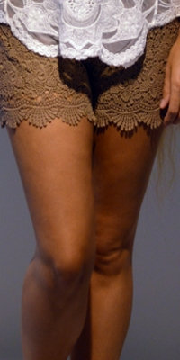 Blonde shorts - taupe