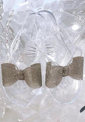 Glitter bow sandal