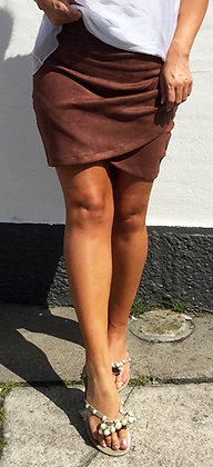 Suede nederdel - brun