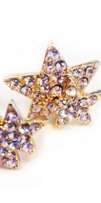 Stjerne øreringe - guld