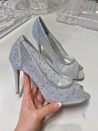 Diamond heels sølv - hælhæjde 7,5 cm - 6788