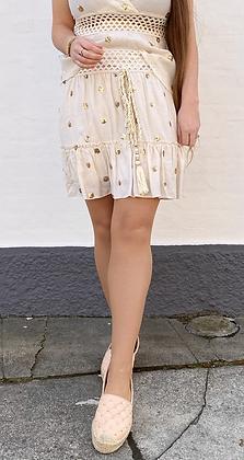 Shiny gold nederdel - beige