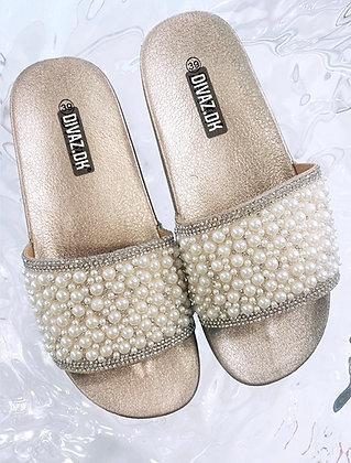 Pearl sandal i rosegold