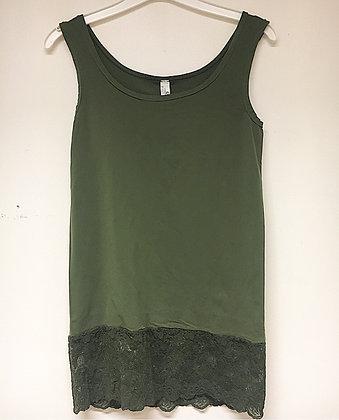 Top med blonde - army grøn