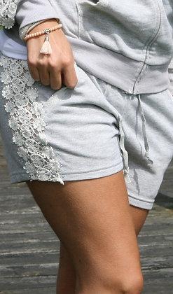 Shorts med blonde og sten - grå