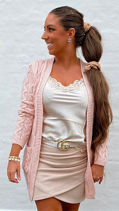 Cable Cardigan - rosa