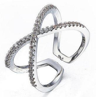 Scarlett - cross ring - sølv
