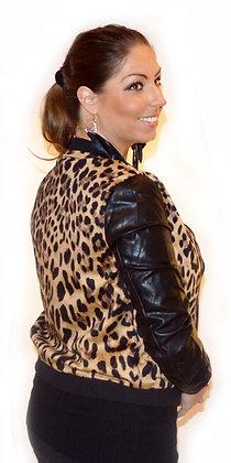 Leopard jakke - sort/leop