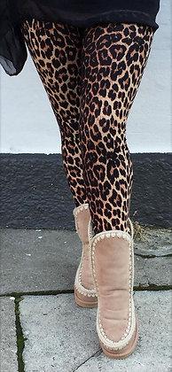 Leopard leggings brun