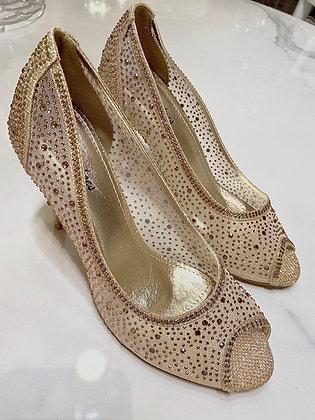 Diamond heels guld - hælhæjde 7,5 cm - 6788