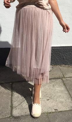 Tyl nederdel - rosa