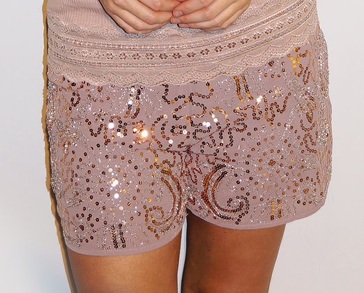 Mandy paliet shorts - rosa