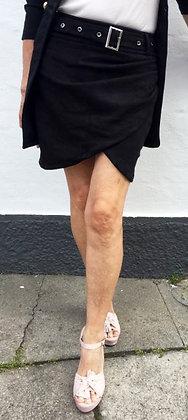 Suede nederdel - sort