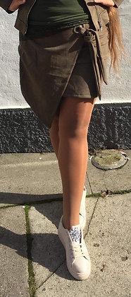 Army Suede nederdel asymmetrisk