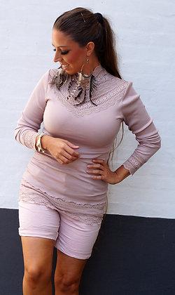 Rosemunde Bluse med krave i silke - Rosa