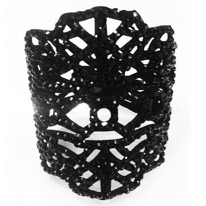 Gotisk armbånd - sort