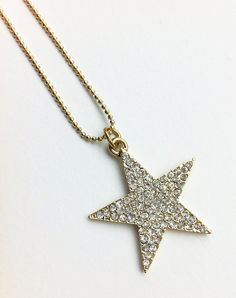 Stjernehalskæde - guld