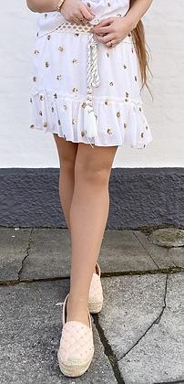 Shiny gold nederdel - hvid