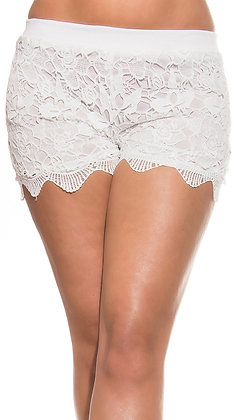 Blonde shorts i hvid