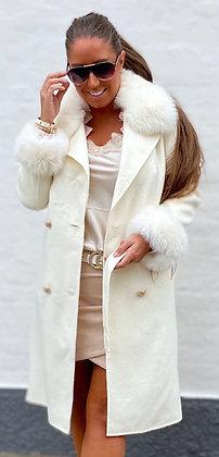 Divaz jakke i uld med ræv