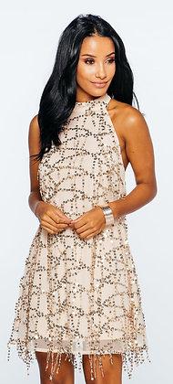 Bella kjole med paliet frynser