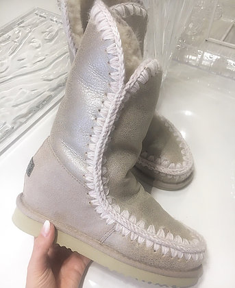 Mou Boots Intereskimo Tall - Stone Metallic