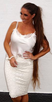 Rosemunde blonde  nederdel - Råhvid