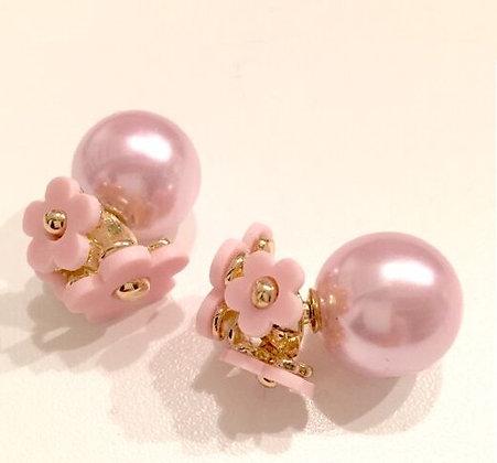 """""""Marc Jacobs"""" blomster øreringe - rosa"""