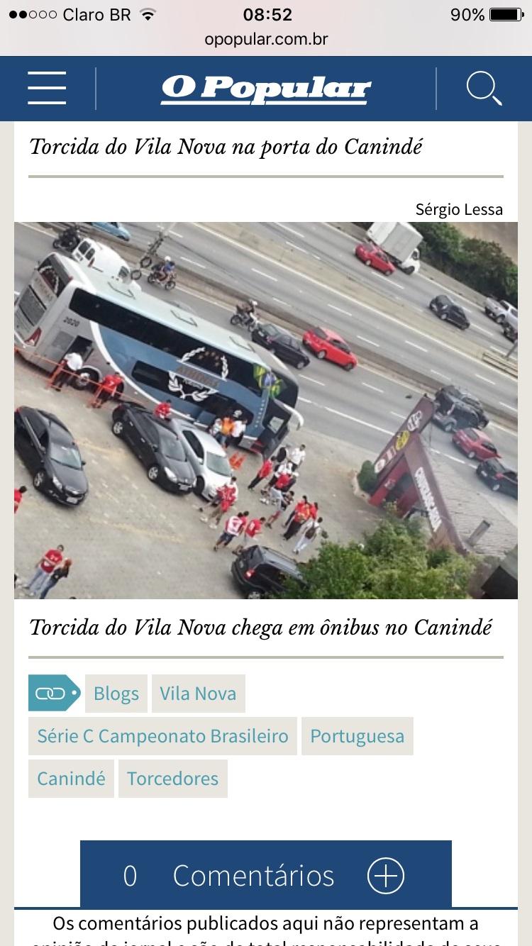 VIla Nova Futebol (Jornal Opopular)