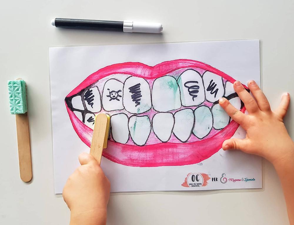 Free pdf; pdf scaricabile per giocare a lavare i denti