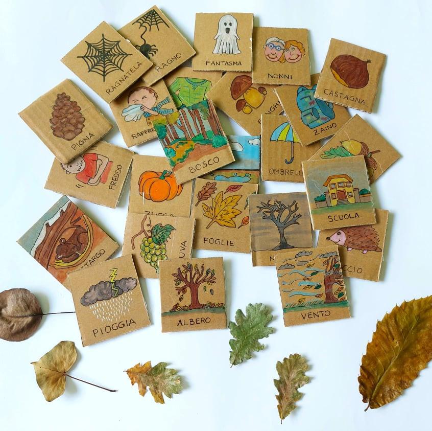 elementi , immagini dell'autunno per bambini
