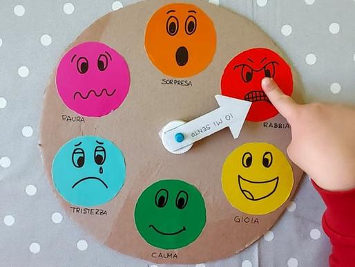 Ruota delle emozioni in cartone e puzzle delle emozioni da scaricare