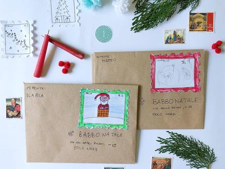 Letterina per Babbo Natale con francobollo (Avvento giorno 1)