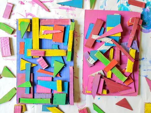 Dipinti materici in solo cartone
