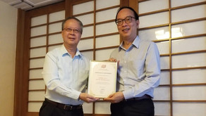 Appointment certificate for the Hon. Ma Fung-Kwok, GBS, JP as the Honorary Adviser of HKCIA