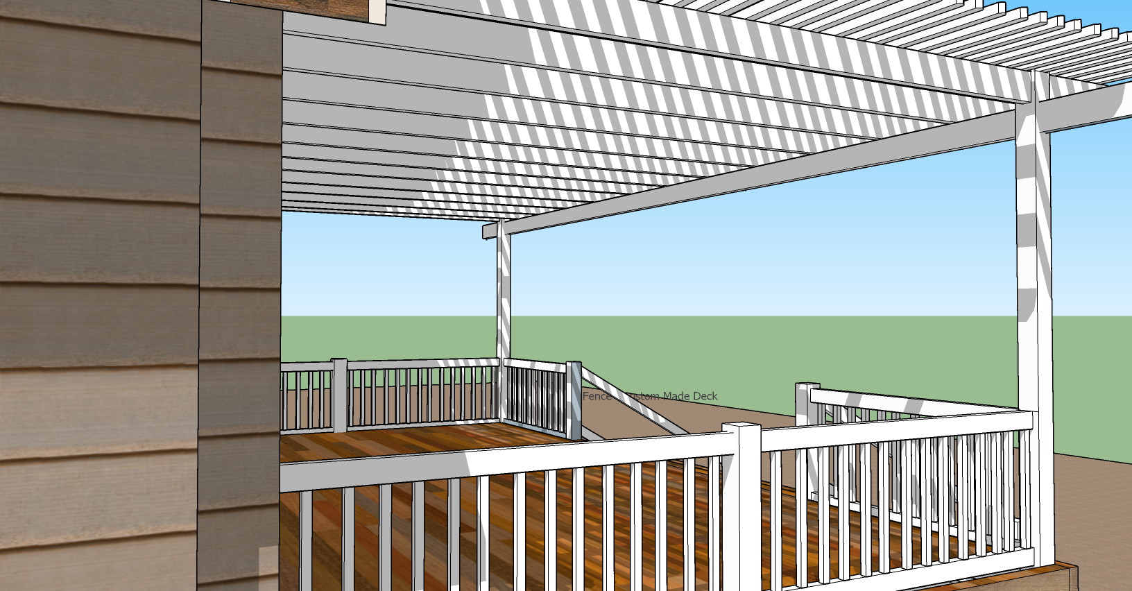 Picket White Vinyl Patio Cover - By Torrance Vinyl Fence Company