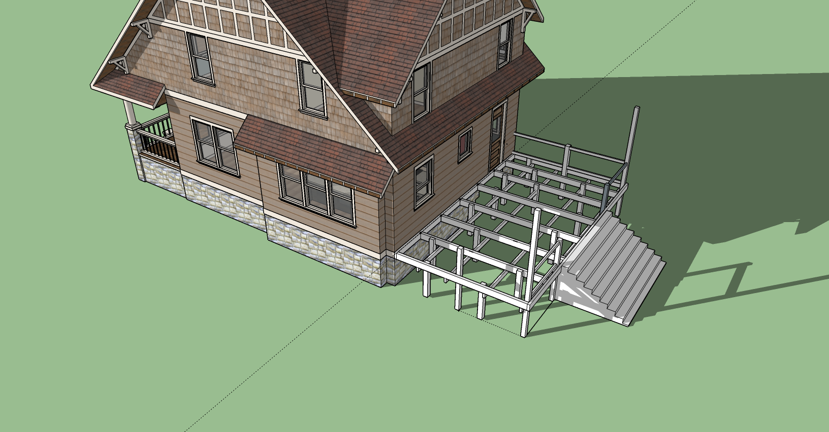 Deck with Rails -Torrance Fence