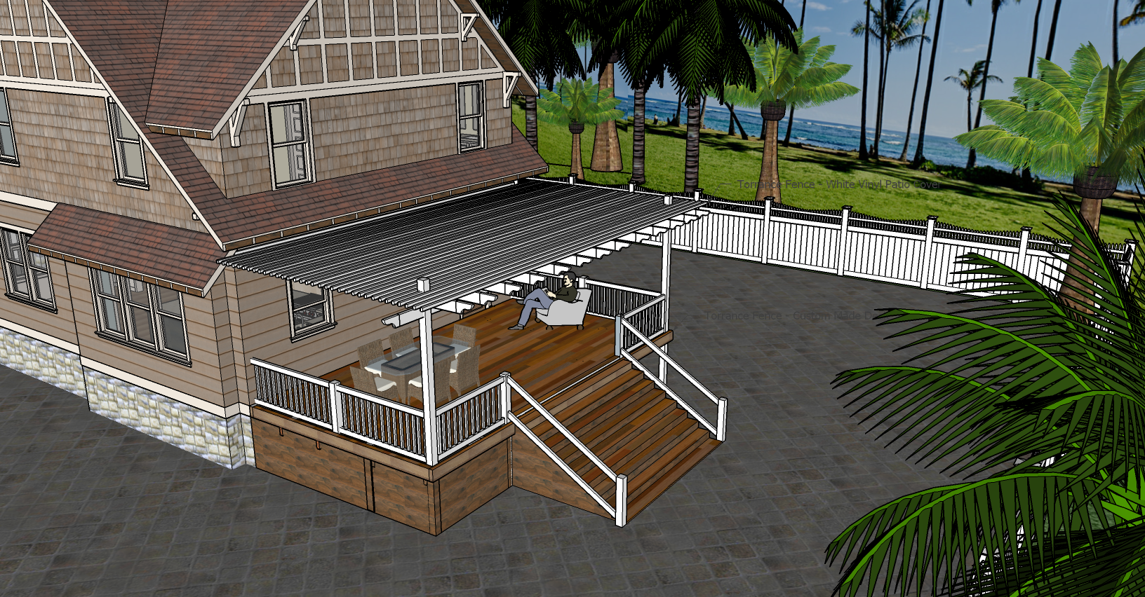 Patio Deck- by Torrance Fence COMPANY.