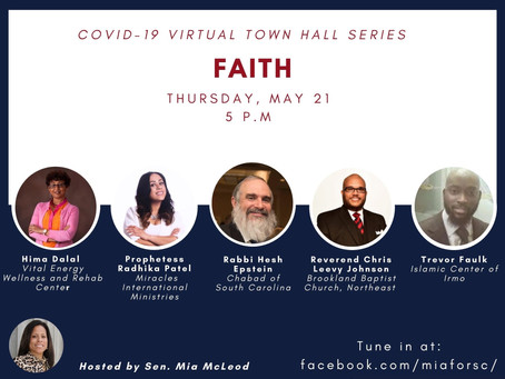 Faith during the Pandemic -- Join us today @ 5 PM!