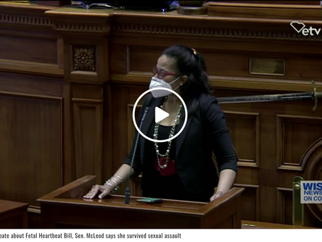WATCH: During debate about Fetal Heartbeat Bill, Sen. McLeod says she survived sexual assault