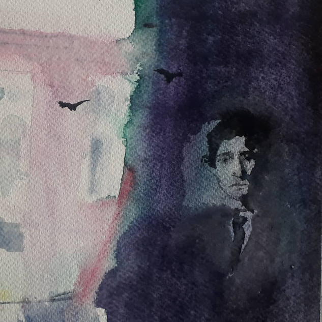Watercolor, fragment,sold