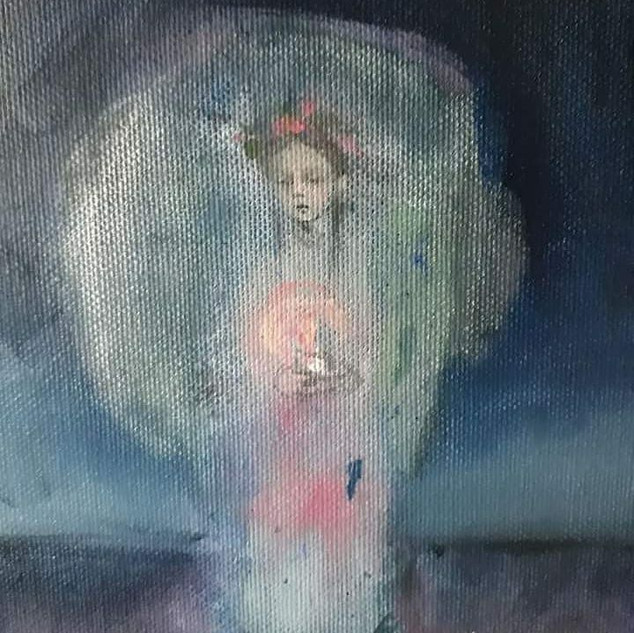 Oil painting, fragment,sold
