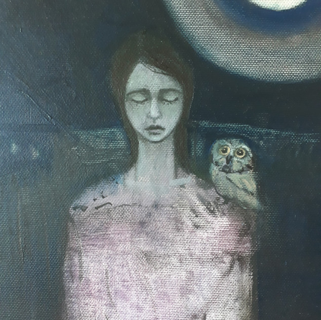 Oil painting 20x50cm,fragemnt,sold