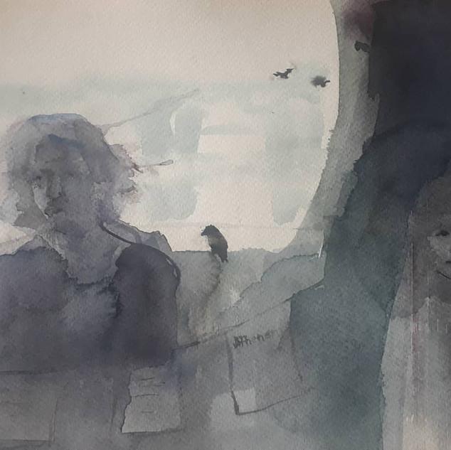 Watercolor 24x30cm, for sale
