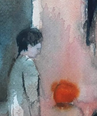 watercolor,fragment, sold