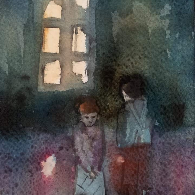 Watercolor,fragment,sold