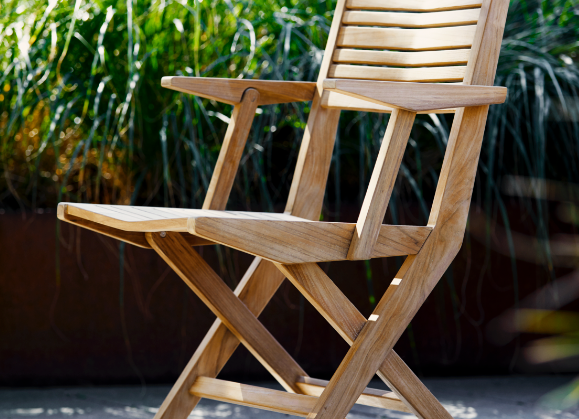 Flip klapstol med armlæn